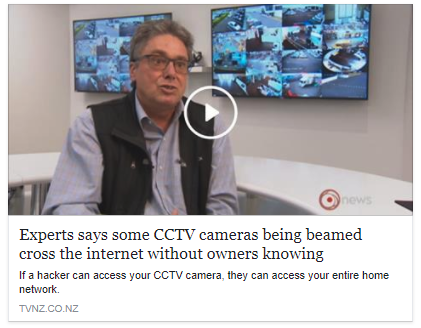 Experts says some CCTV cameras being beamed cross the internet without owners knowing