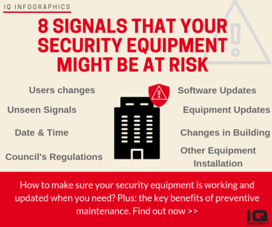 Signals that your Security Equipment needs Maintenance Services