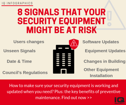 IQ Infographics - 8 Signals that Your Security Equipment might be at Risk