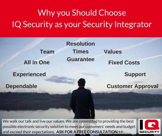 Choose IQ Security as your Security Integrator