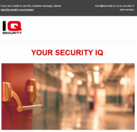 Sign Up for IQ Security Monthly Newsletter
