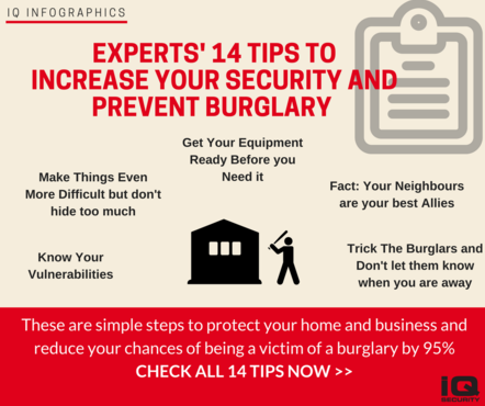 IQ Infographics 14 Security Tips to Avoid Burglary
